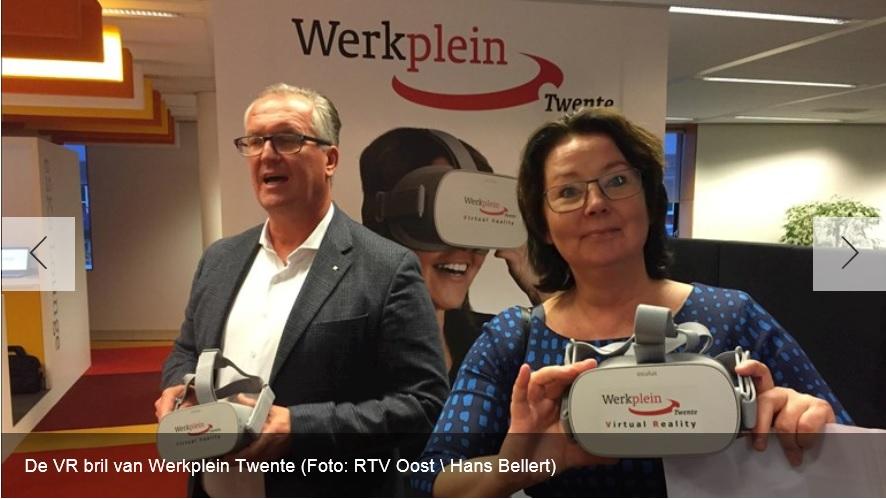 Arjan Kampman en Petra ten Thije bij lancering Virtual Reality