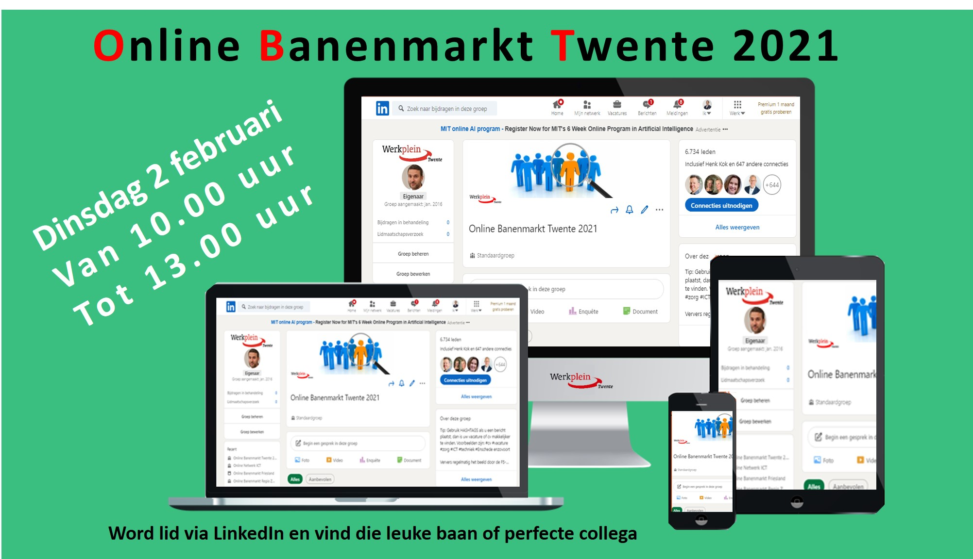 Online Banenmarkt 2021 februari